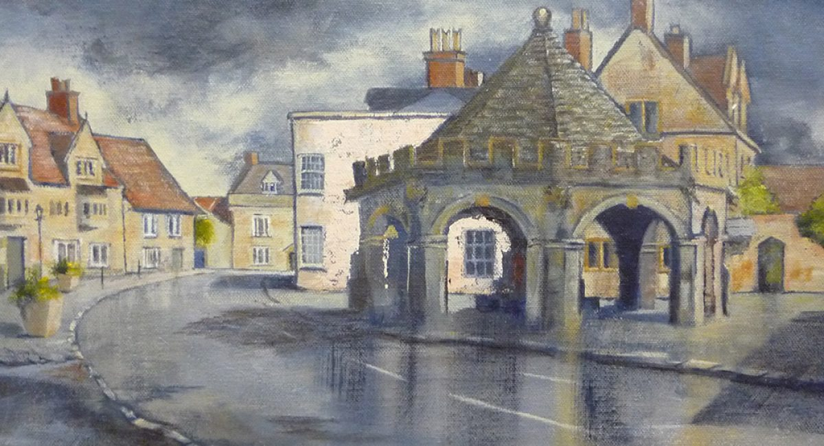 Painting of the Buttercross, Somerton, Somerset