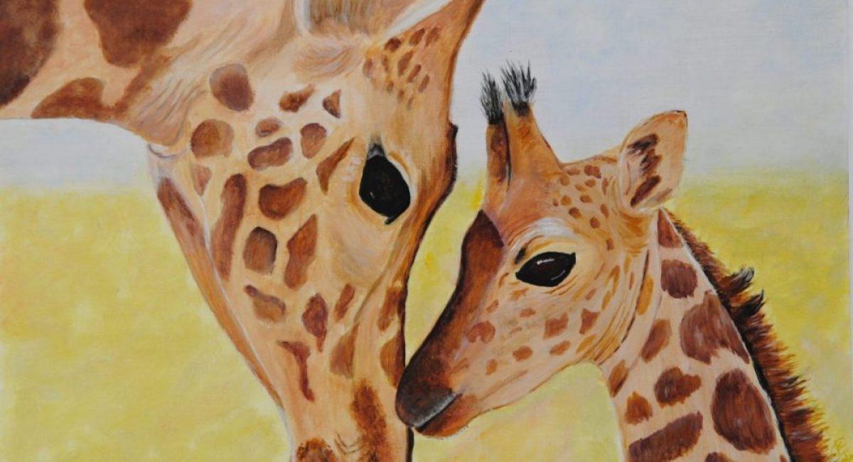 Giraffe - Mother & Child